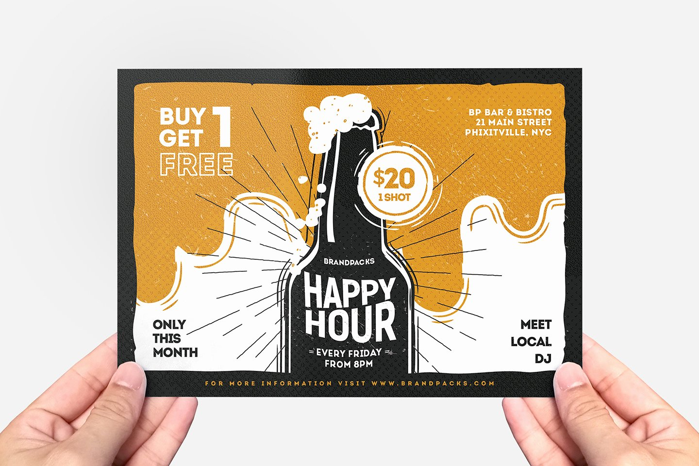 Happy Hour Flyer Template Inspirational Happy Hour Flyer Template Psd Ai & Vector Brandpacks