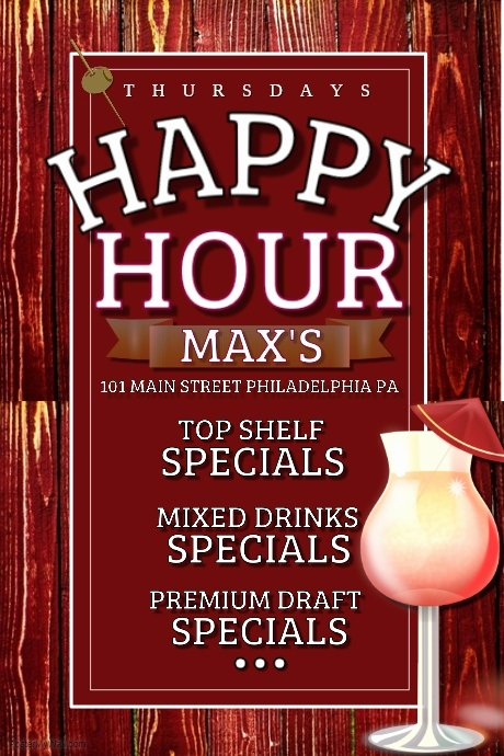 Happy Hour Flyer Template Lovely Happy Hour Template