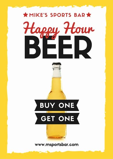 Happy Hour Flyer Template Lovely Wine Bar Happy Hour Flyer Templates by Canva