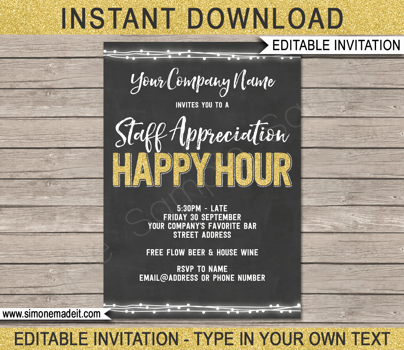 Happy Hour Invite Template Awesome Chalkboard Happy Hour Invite Template