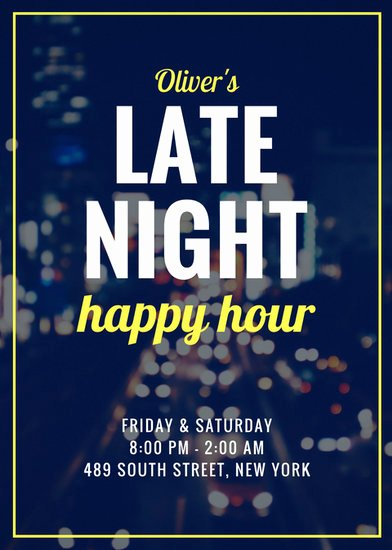 Happy Hour Invite Template Beautiful Customize 171 Happy Hour Flyer Templates Online Canva