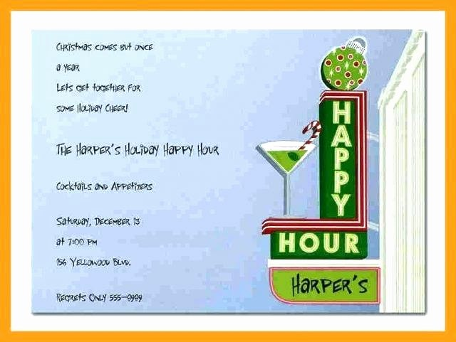 Happy Hour Invite Template Beautiful Template Happy Hour Invite Template Invitation Wording