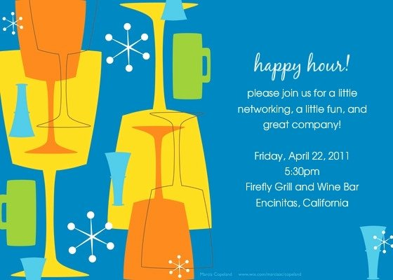 Happy Hour Invite Template Best Of Happy Hour Invitation Wording Cobypic