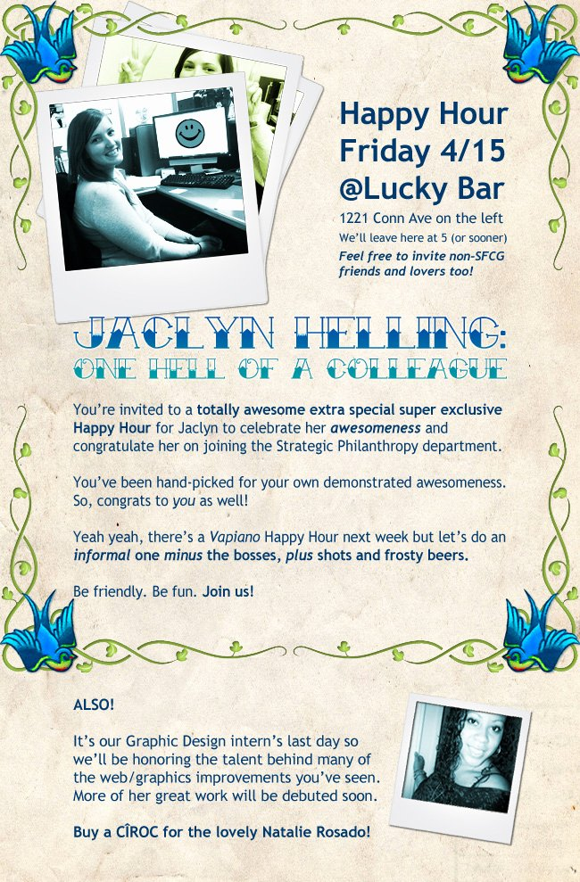 Happy Hour Invite Template Best Of Special Happy Hour for Coworker