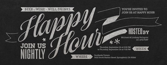 Happy Hour Invite Template Fresh Free Happy Hour Line Invitations Evite