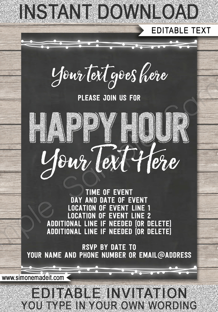 Happy Hour Invite Template Fresh Happy Hour Invitation Template