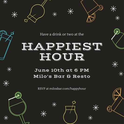 Happy Hour Invite Template Inspirational Customize 242 Happy Hour Invitation Templates Online Canva