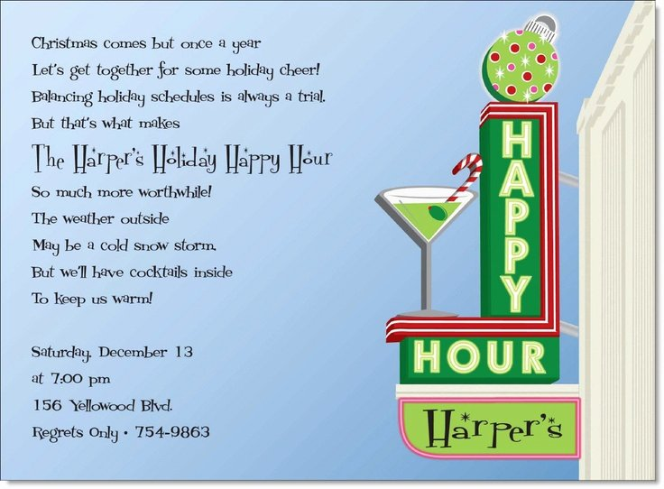 Happy Hour Invite Template Inspirational Retro Invite Happy Hour Party Invites