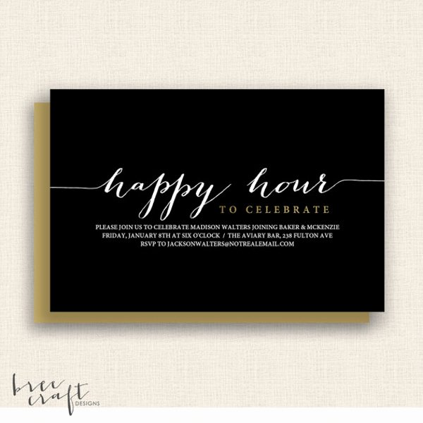 Happy Hour Invite Template Luxury 14 Happy Hour Invitation Designs & Templates Psd Ai