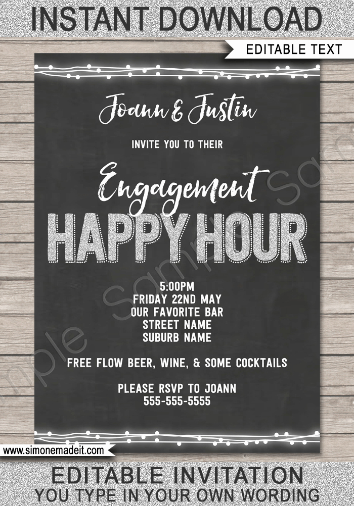 Happy Hour Invite Template New Happy Hour Invite Template