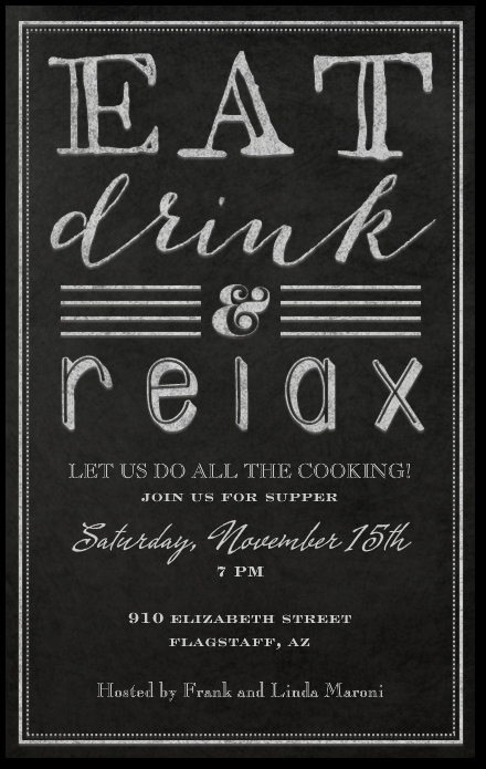 Happy Hour Invite Template New why Not Have A Dinner Party with Your Friends and