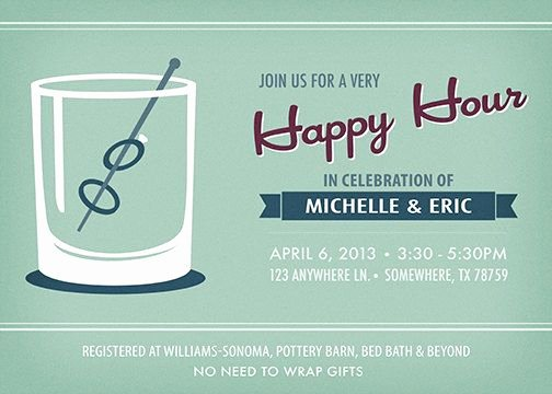 Happy Hour Invite Template Unique 9 Best Images About Cocktail Invite On Pinterest