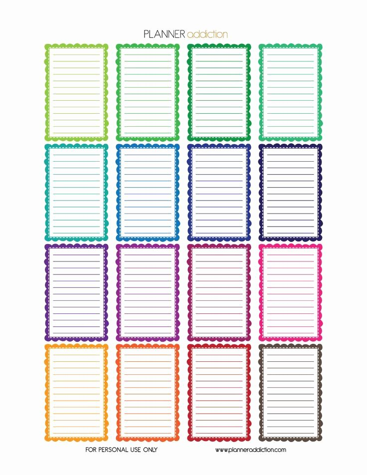 Happy Planner Sticker Template Awesome Free Printable Planner Stickers Frames Happy Planner