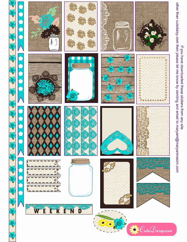 Happy Planner Sticker Template Beautiful Free Printable Rustic Stickers for Happy Planner