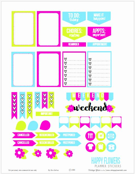 Happy Planner Sticker Template Elegant Happy Planner Stickers Printable