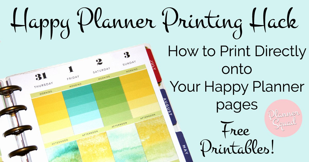 Happy Planner Sticker Template Fresh Happy Planner Printing Hack How to Print Directly to