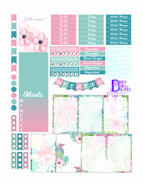 Happy Planner Sticker Template Fresh Tropical Summer Kit Freebie for Happy Planner – Diary Of A