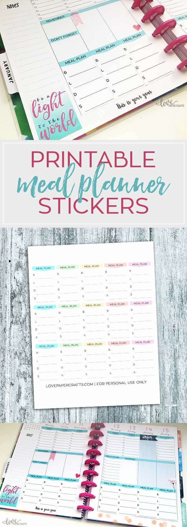 Happy Planner Sticker Template New 25 Best Ideas About Meal Planning Templates On Pinterest