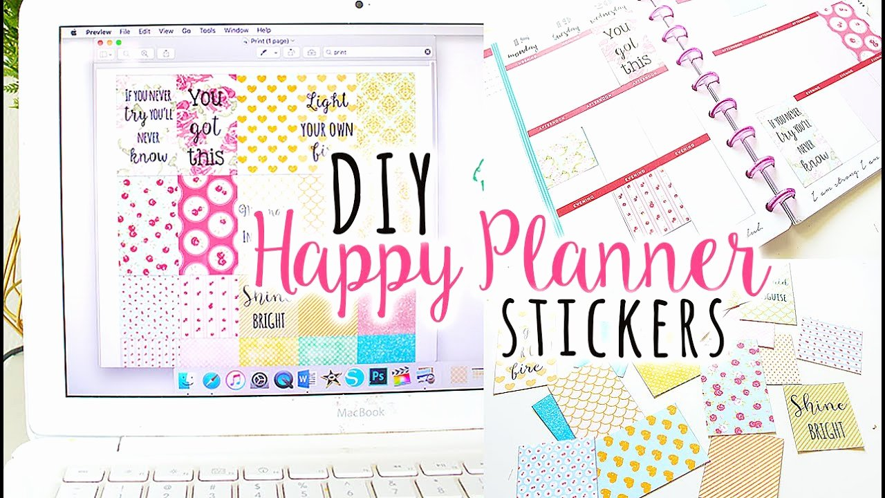 Happy Planner Sticker Template Unique How to Make Happy Planner Sticker Boxes