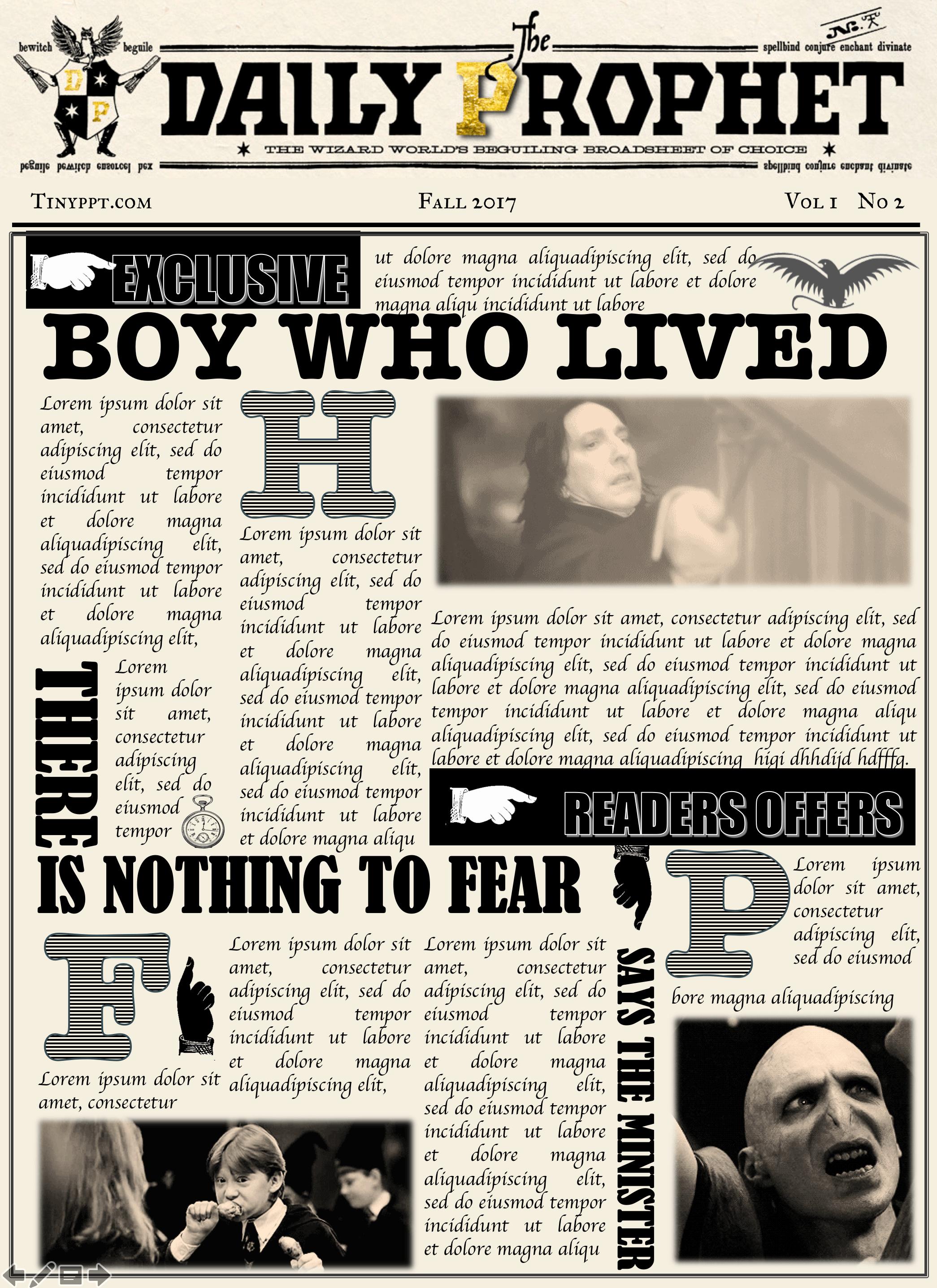 Harry Potter Powerpoint Template Unique Unique Daily Prophet Template Image Collection