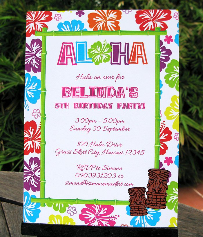 Hawaiian Party Invitation Template Awesome Luau Birthday Party Invitations