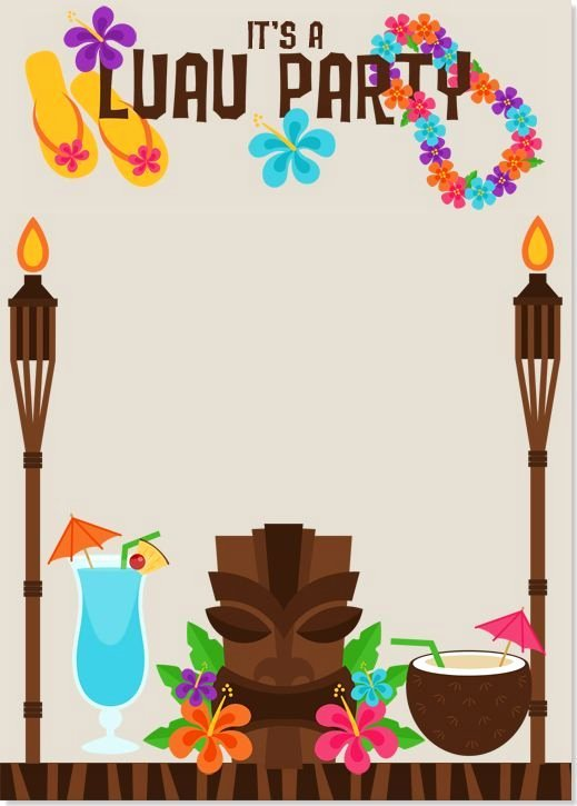 Hawaiian Party Invitation Template Inspirational Image Result for Luau Invitations Templates Free