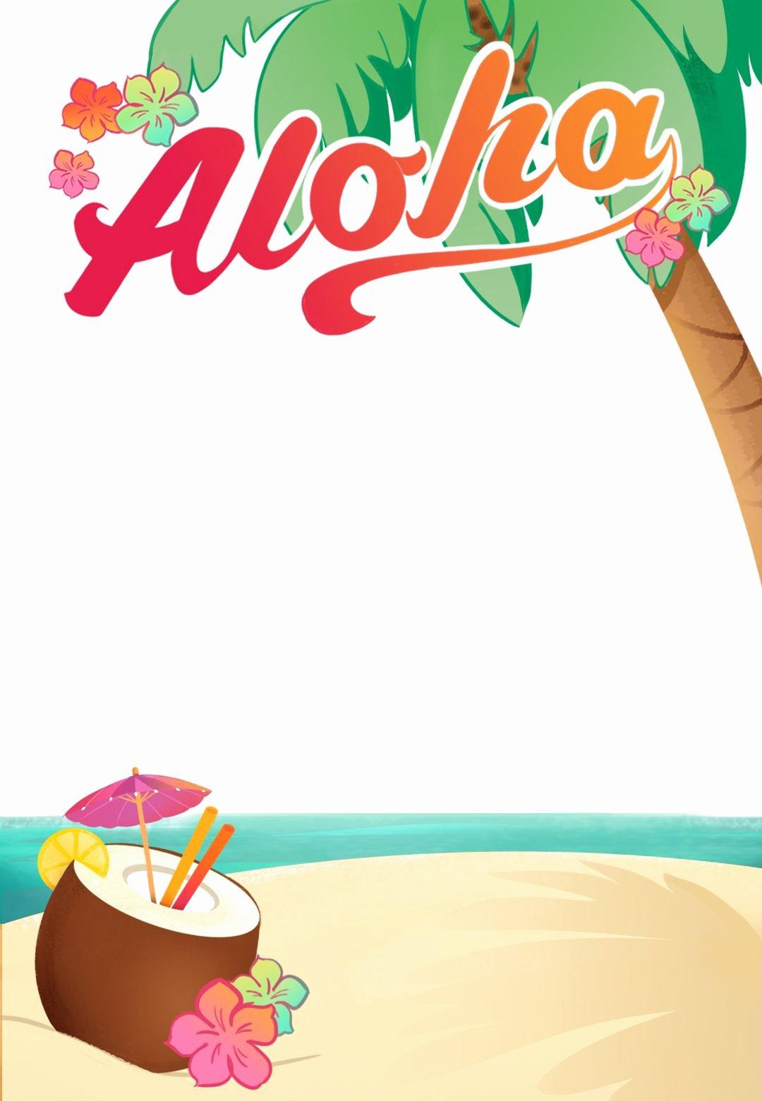 Hawaiian Party Invitation Template Inspirational Luau Party Free Printable Summer Party Invitation