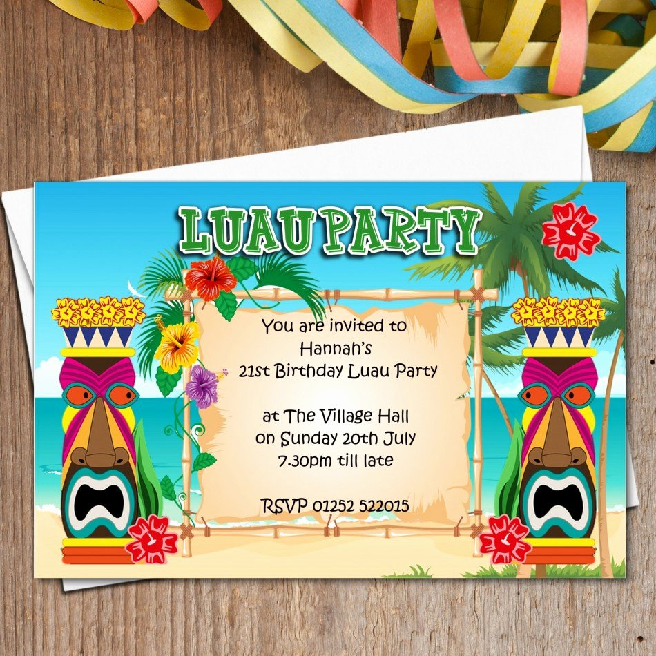 Hawaiian Party Invitation Template Lovely Ideas Personalize Your Party Using Luau Invitations Ideas