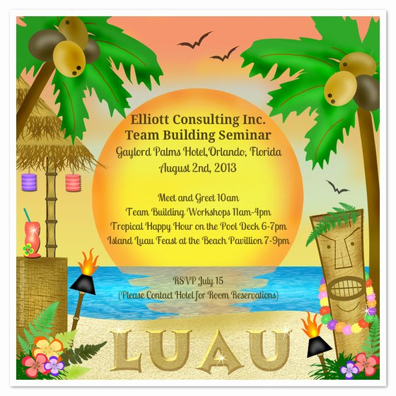 Hawaiian Party Invitation Template Luxury Let S Luau Invitations & Cards On Pingg