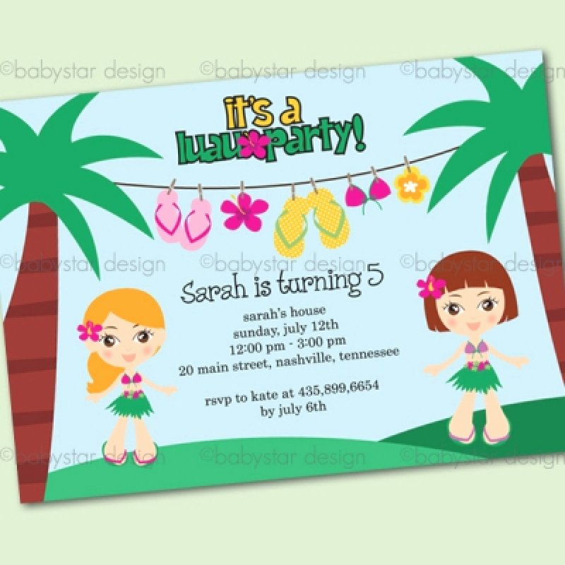 Hawaiian Party Invitation Template New Hawaiian Birthday Invitation Template – orderecigsjuicefo