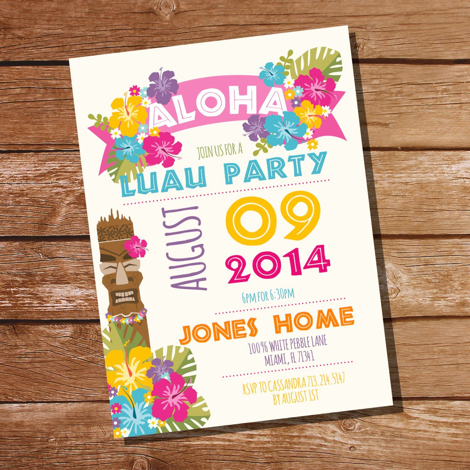 Hawaiian Party Invitation Template New Luau Party Invitation Hawaiian Party Invitation Instant