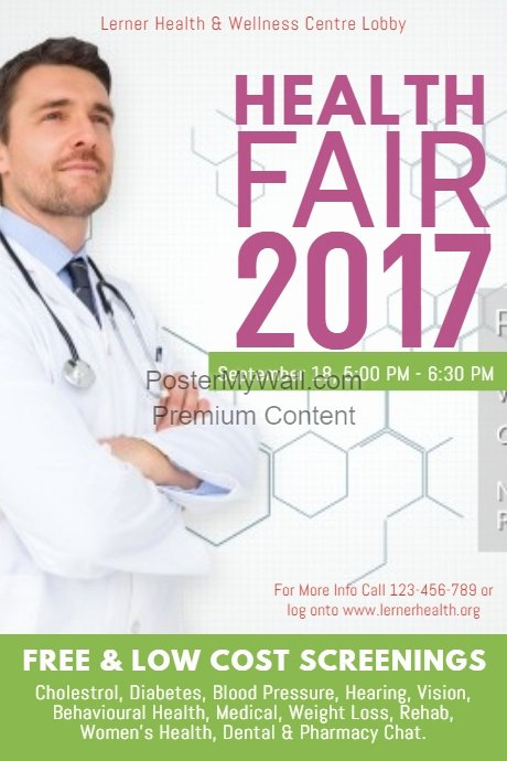 Health Fair Flyer Template Beautiful Copy Of Health Fair 2017 Poster Template