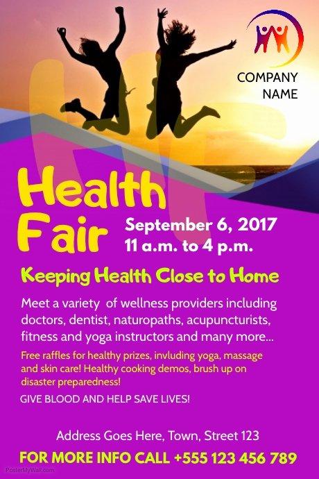 Health Fair Flyer Template Beautiful Health Fair Flyer Template