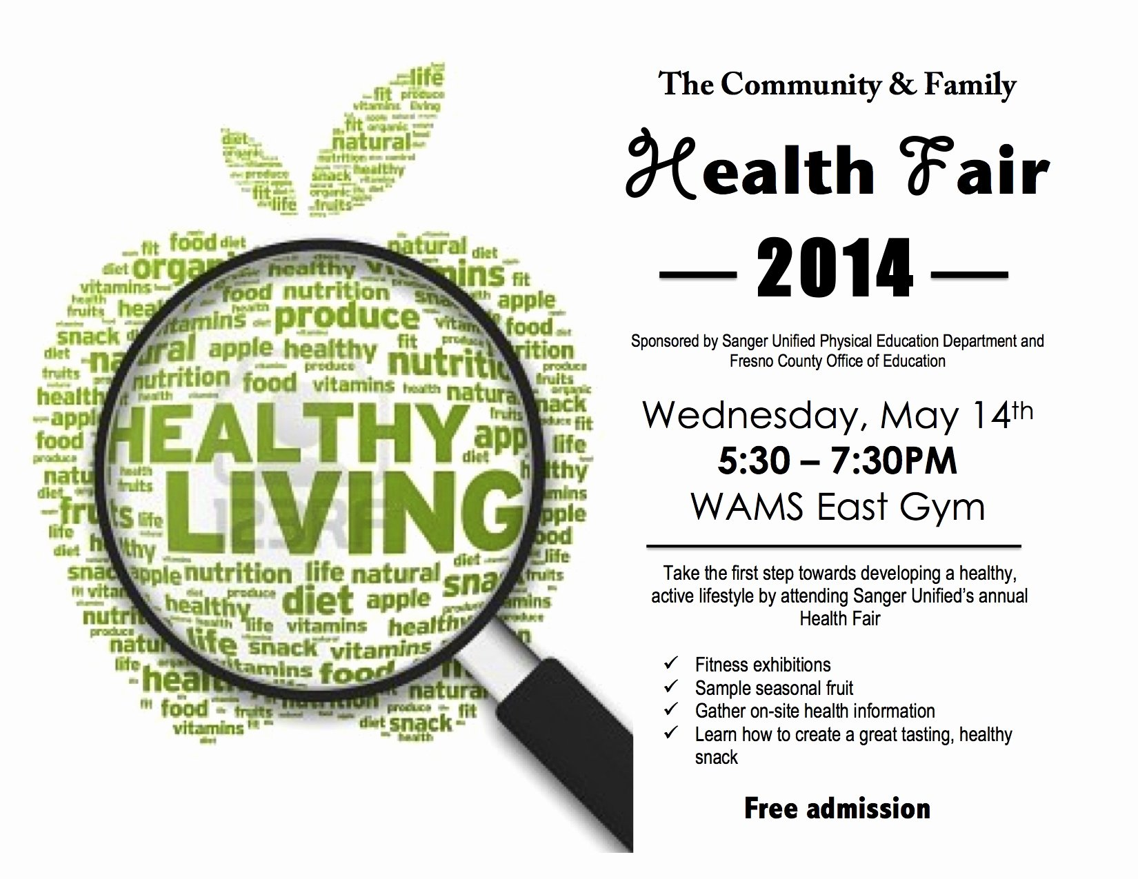 Health Fair Flyer Template Best Of 8 Best S Of Family Health Fair Flyers Health and