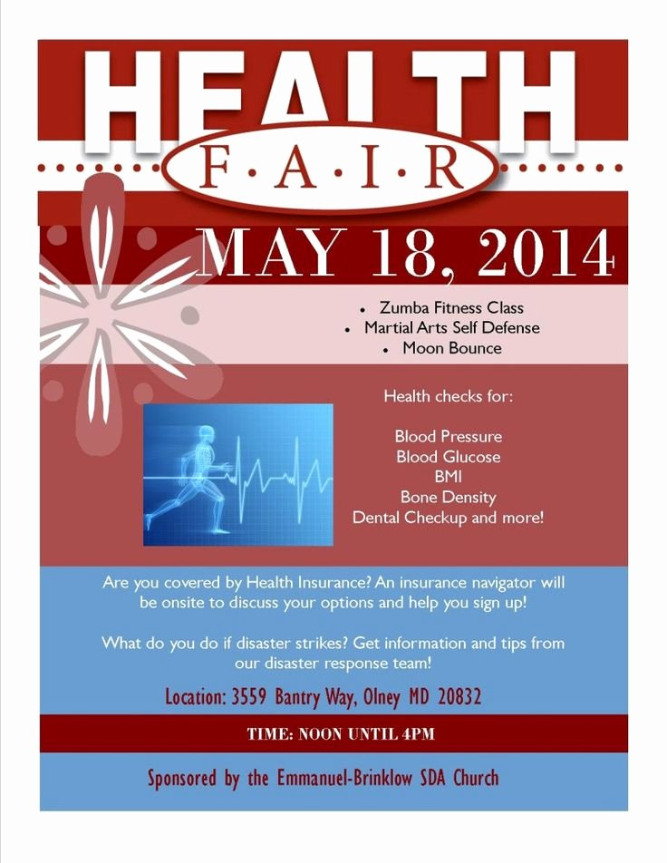 Health Fair Flyer Template Elegant 1000 Ideas About Health Fair On Pinterest
