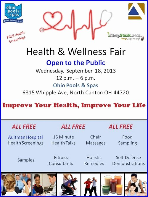 Health Fair Flyer Template Fresh Health & Wellness Fair Free Health Screenings In north