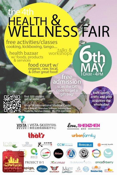 Health Fair Flyer Template Lovely Fourth Shenzhen Health and Wellness Fair Updated