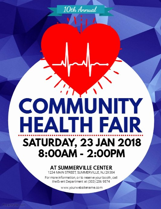 Health Fair Flyer Template Luxury Health Fair Flyer Template