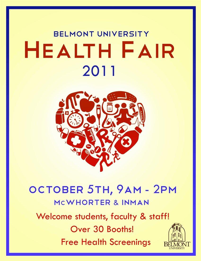 Health Fair Flyer Template New Fyi Health Fair Poster
