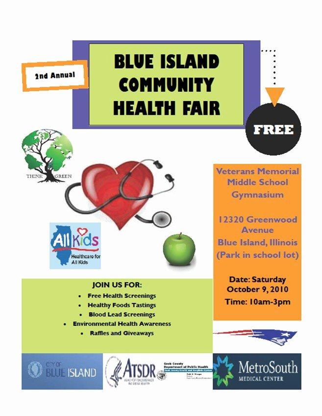 Health Fair Flyer Template Unique 10 Best Of Health Fair Flyer Templates Free