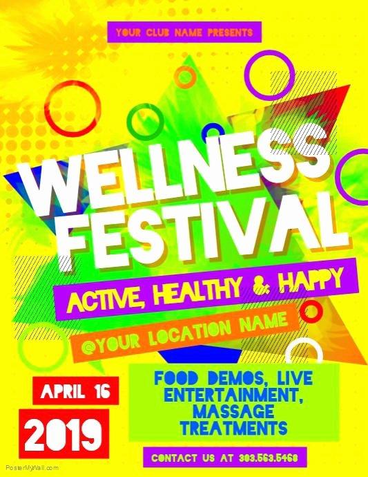 Health Fair Flyer Template Unique Health Fair Flyers Flyer Template and Wellness Templates