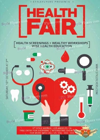 Health Fair Flyer Template Unique Health Fair Psd V6 Flyer Template
