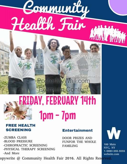 Health Fair Flyer Template Unique Munity Health Fair Template