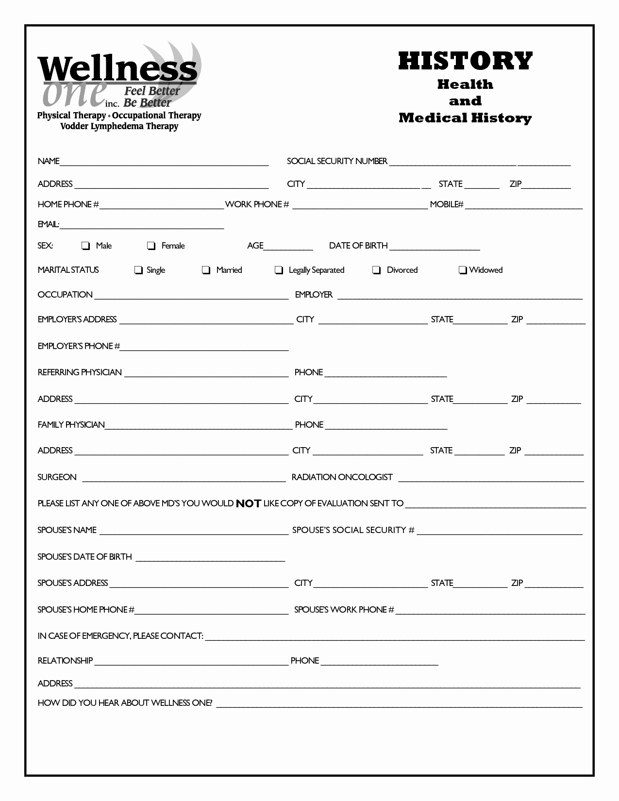 Health History form Template Beautiful Family Medical History form Pdf