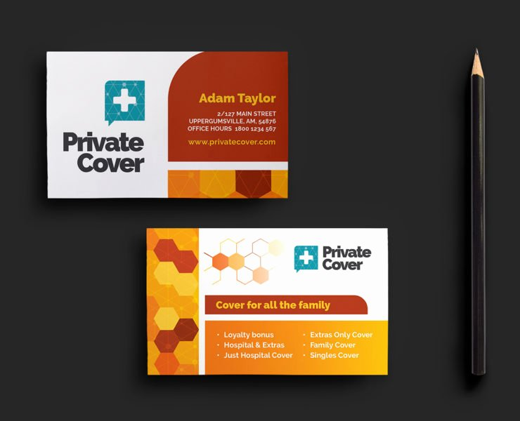 Health Insurance Card Template Beautiful Business Card Templates for Shop & Illustrator