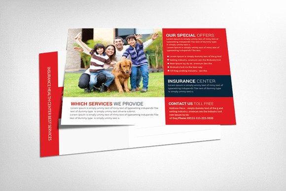 Health Insurance Postcard Template