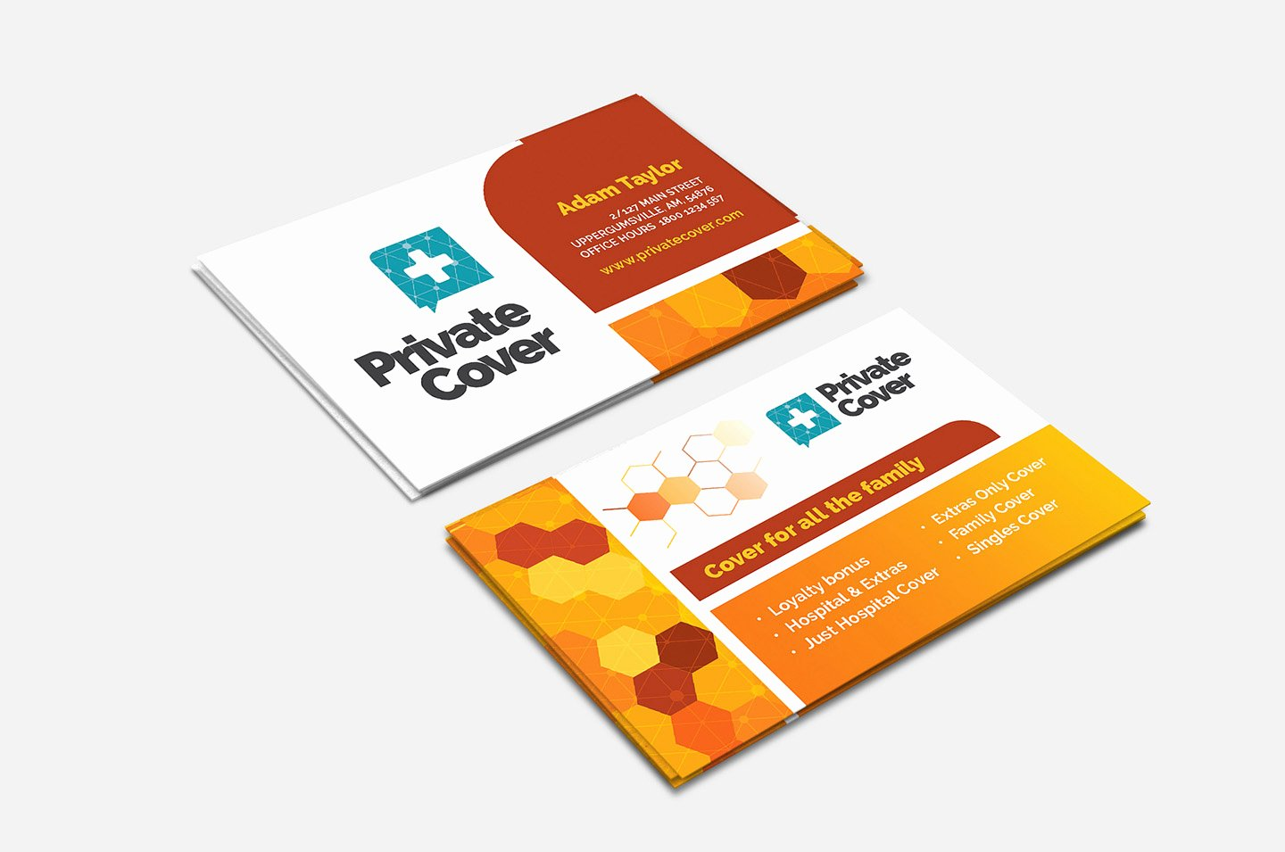 Health Insurance Card Template Lovely Health Insurance Business Card Template In Psd Ai