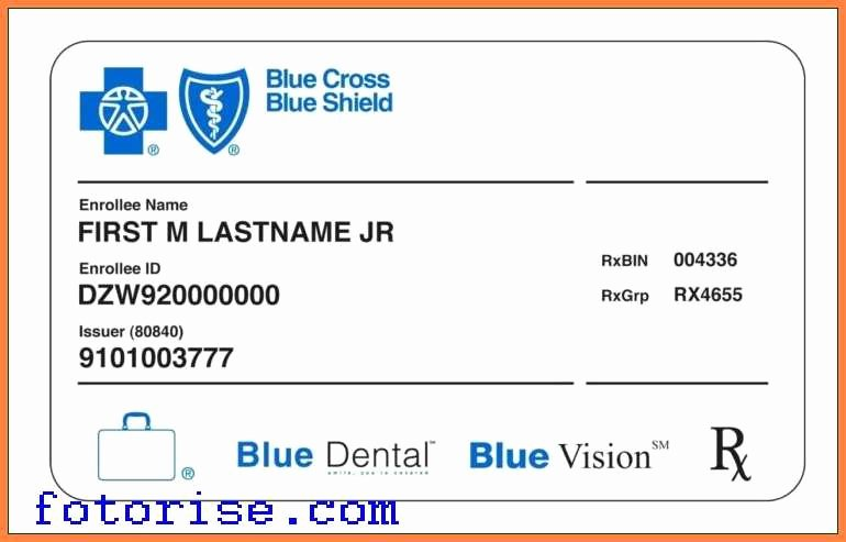 Health Insurance Card Template Luxury Fake Health Insurance Card Ibrizz