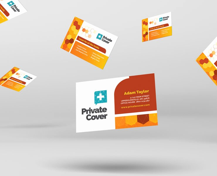 Health Insurance Card Template Luxury Health Insurance Business Card Template for Shop