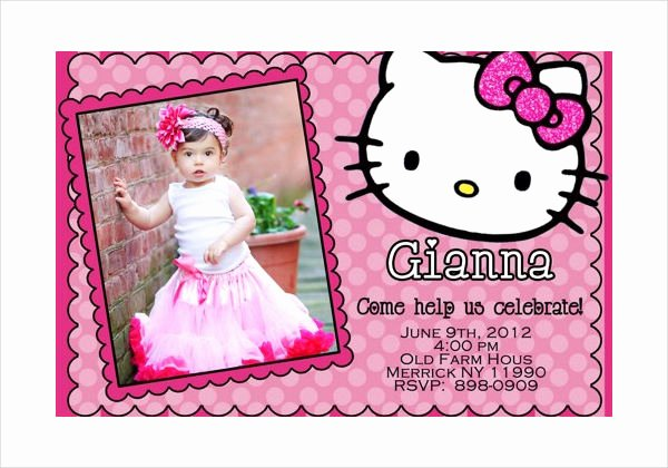 Hello Kitty Invitation Template Best Of 58 Sample Birthday Invitation Templates Psd Ai Word